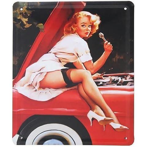 Marilyn Monroe, curiosidad naugthy Sexy diseño, metálica para puerta o pared placa