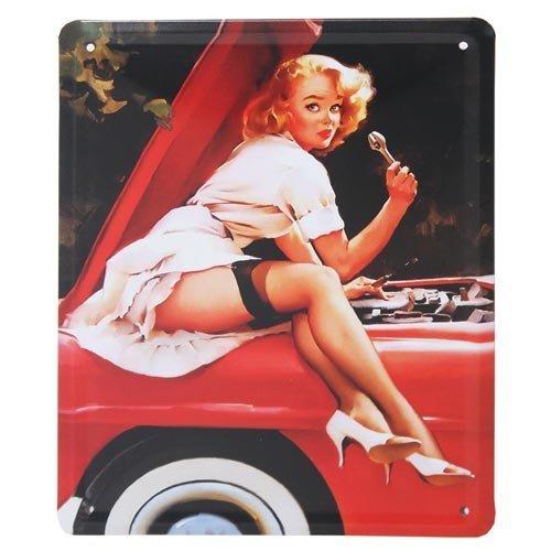 MARILYN MONROE, risque Naughty Sexy Design, Vintage Metall Türschild oder Wandschild