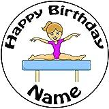 """Decoración para tarta para personalizable gimnasia niña–un precortado redondo 8""""(20cm) glaseado decoración"""