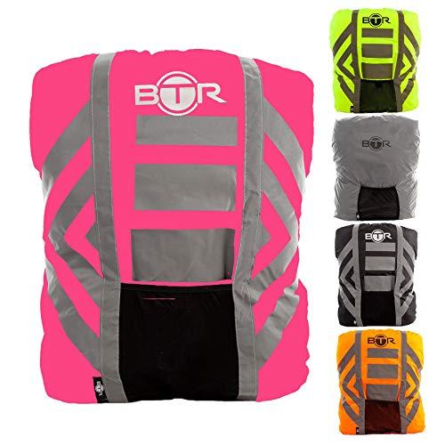 BTR Wasserfester Regenschutz für den Rucksack, Regenschutz für Schulranzen. Rosa. Large