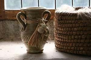 Greemotion 883015 Rom Vase mit 2 Henkeln Terrakotta 22 cm