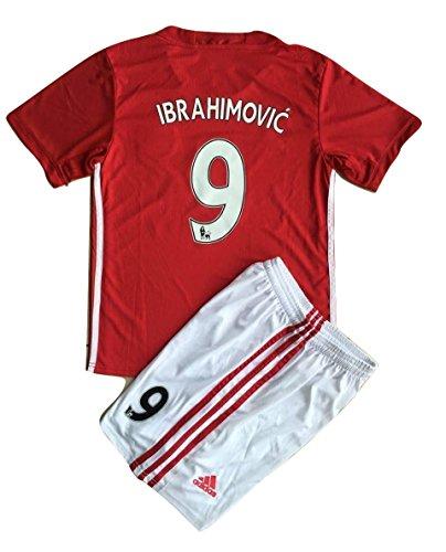2016-17-ibrahimovic-del-manchester-united-9-casa-jovenes-futbol-ninos-jersey-y-corto-infantil-9-11-a