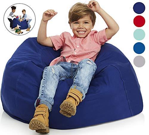 Delmach Stuffed Sitzsack aus 100% Baumwoll-Leinen Farbe blau, rot, Lagergarantie, Sitzsack für Kinderstuhl Frisch für Kinderzimmer und Spielzeugorganisation