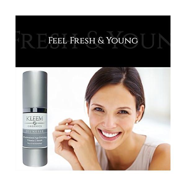 Suero orgánico de vitamina C para la cara con ácido hialurónico y vitamina E. Crema antienvejecimiento, se ha demostrado…