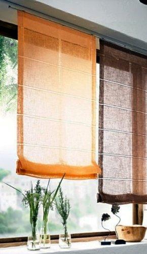 Tenda a pacchetto fert igdeko finestra tenda pieghevole rollo tenda plissettato orange 5misure, tessuto, trasparente, 135x40