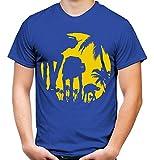 at-at Sunlight Männer und Herren T-Shirt | Star Wars Yoda Vintage Darth Vader Imperium Kult (XL, Blau)
