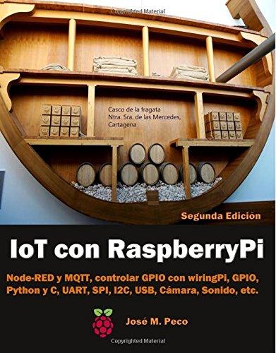 IoT con Raspberry Pi: Node-RED y MQTT, control de los GPIO con wiringPi y RPI, Python y C, UART, SPI, I2C, USB, Camara, Sonido, etc por Sr. Jose M. Peco