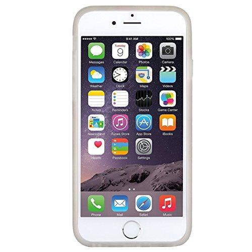 iPhone 6 / iPhone 6s Hülle, Yokata Silikon Weich Jelly Weich Gel mit Blumen Motiv Case Ultra Slim Cover Schutzhülle Sehr Dünn Handyhülle - Rose Blau