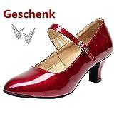 Loveso Damen Tanzschuhe Pumps Latin Schuhe Gesellschaftstanz Schuhe Hochhackig Sexy Party Schuhe