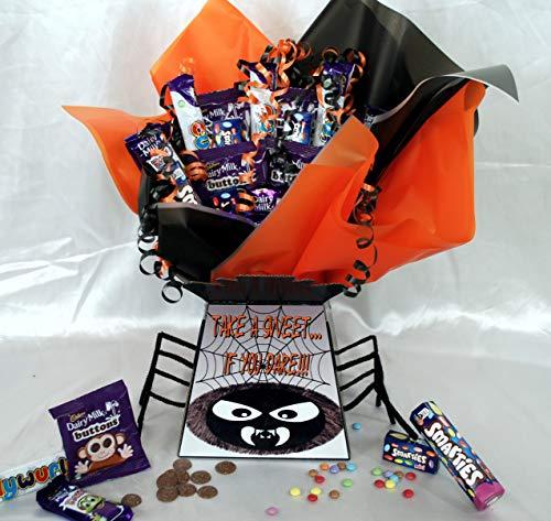 Kids Halloween Party Spooky Spider Sweet Chocolate Bouquet Hamper