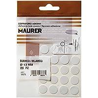 Maurer 5440100 Pack de 20 tapatornillos Adhesivos, Color Blanco