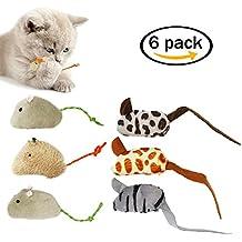 Huan Tai Juguetes para Gatos Ratones de Piel, Suaves y Duraderos para Jugar con la