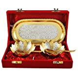 #10: Gold And Silver Plated Bowl Tray Set