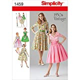 Simplicity 1459Größe U5Misses und Miss Petite Fünfzigerjahre Vintage-Kleid, Schnittmuster