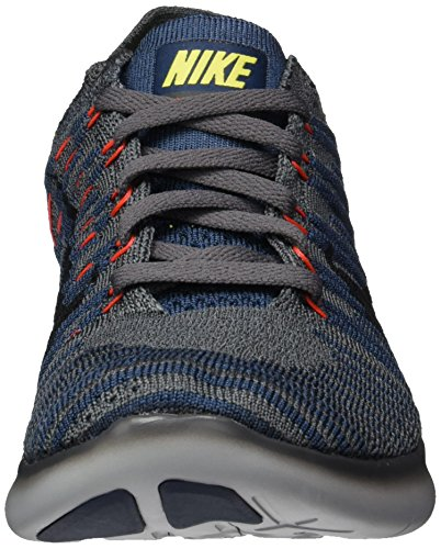 Nike Herren Free Rn Flyknit Hallenschuhe Grau DK GRY/BlackSqdrn