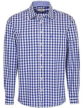 Almsach Trachtenhemd Franz Regular Fit in Blau Inklusive Volksfestfinder
