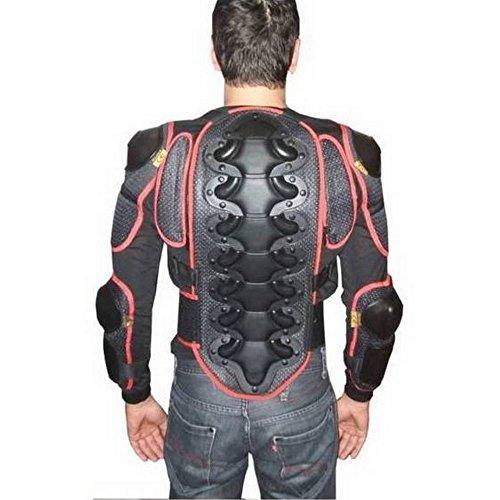 CRUIZER Jacke Latz für Motorrad Ski Snowboard hypoallergen mit Protektoren auf Schulter, Ellenbogen, Rücken und Brust M Schwarz