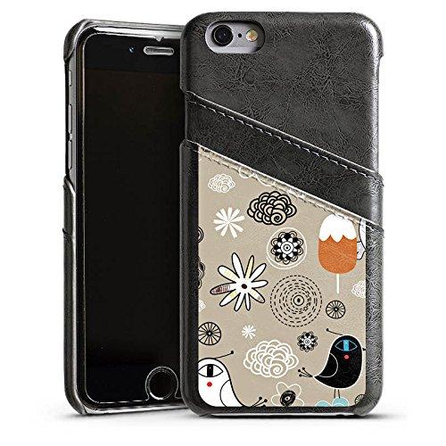 Apple iPhone 4 Housse Étui Silicone Coque Protection Les oiseaux aiment les glaces Glace Glace Étui en cuir gris