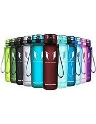 Super Sparrow Trinkflasche - Sports Wasserflasche - 500ml &1000ml - Eco Friendly & BPA-freiem Kunststoff - Ideale Sportflasche - für das Laufen, Fitness, Yoga, Im Freien und Camping - Schnelle Wasserdurchfluss , Flip Top, öffnet sich mit 1-Click - Wiederverwendbare mit dicht schließendem Deckel