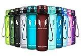 Super Sparrow Trinkflasche - Sports Wasserflasche - 500ml &1000ml - Eco Friendly & BPA-freiem Kunststoff - Ideale Sportflasche - für das Laufen, Fitness, Yoga, Im Freien und Camping - Schnelle Wasserdurchfluss , Flip Top, öffnet sich mit 1-Click - Wiederverwendbare mit dicht schließendem Deckel (Imperial Red, 1000ml-32oz)