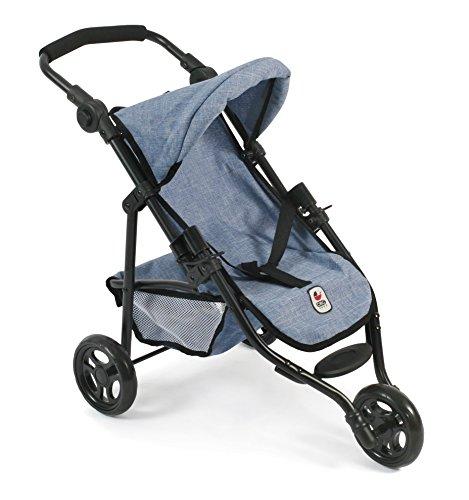 """Preisvergleich Produktbild Bayer Chic 2000 612 50 - Jogging Buggy """"Lola"""", Kleiner Puppenwagen für Puppen bis 50 cm, Jeans Blue"""