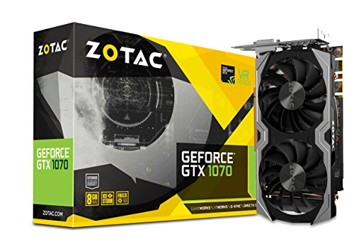 Zotac GeForce GTX 1070 Mini GeForce GTX 1070 8GB GDDR5 - Tarjeta gráfica (GeForce GTX 1070, 8 GB, GDDR5, 256 bit, 8000 MHz, PCI Express 3.0)