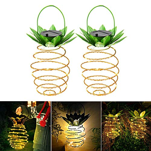 Mayyou 2 Pack Solar Garten hängende Lichter im Freien Solarleuchten Laternen solarbetriebene Licht wasserdichte LED-Dekoration für Weihnachten,Halloween, Garten,Terrasse,Party,Hof