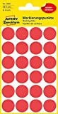 Avery Zweckform 3595 Markierungspunkte (ablösbar, 96 Stück, Papier matt, Durchmesser 18 mm) 4 Blatt rot