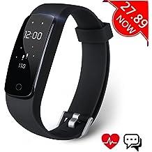 Fitness Tracker, Aneken Activity Tracker Bluetooth 4.0 Braccialetto Fitness Impermeabile IP67 con Cardiofrequenzimetro da Polso Monitoraggio del Sonno Notifiche Chiamate e SMS per iOS e Android