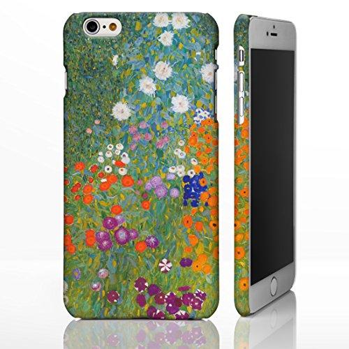 Classic Art Collection Fällen für das iPhone Reihe. bekannten Künstlerin Gemälde Bezüge, plastik, Bauerngarten & Sonnenblumen - Gustav Klimt, iPhone 6 Plus