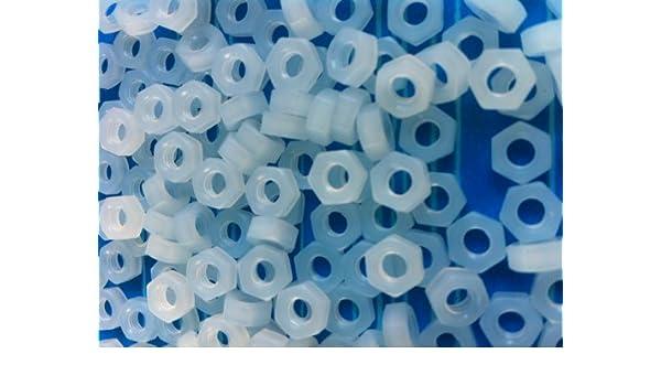 M4x12-25 St/ück DIN84 DIN EN ISO 1207 Zylinderschrauben Kunststoff Polyamid