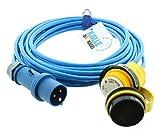 Land-Anschluss-Kabel Polyurethan mit CEE-Stecker/Marinco-Kupplung 2,5 mm² 25 m von KALLE DAS KABEL