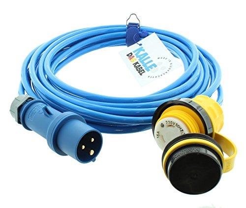 Land-Anschluss-Kabel Polyurethan mit CEE-Stecker/Marinco-Kupplung 2,5 mm² 15 m von KALLE DAS KABEL (Boot-kabel)