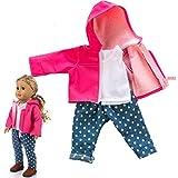 Omiky Puppen Kleidung Gesetzt, Niedliche Kleidung Jacke Mantel Mädchen Spielzeug für 18 Zoll Puppe...