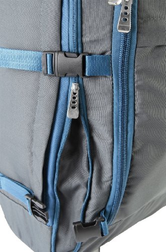 Cabin Max Malmo Expandable Laptop Backpack Trolley 55x40x20cm 44litres (Grey/Blue)