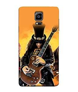 PrintVisa Designer Back Case Cover for Samsung Galaxy Note 4 :: Samsung Galaxy Note 4 N910G :: Samsung Galaxy Note 4 N910F N910K/N910L/N910S N910C N910Fd N910Fq N910H N910G N910U N910W8 (Guitar Concert Show Band Girls)