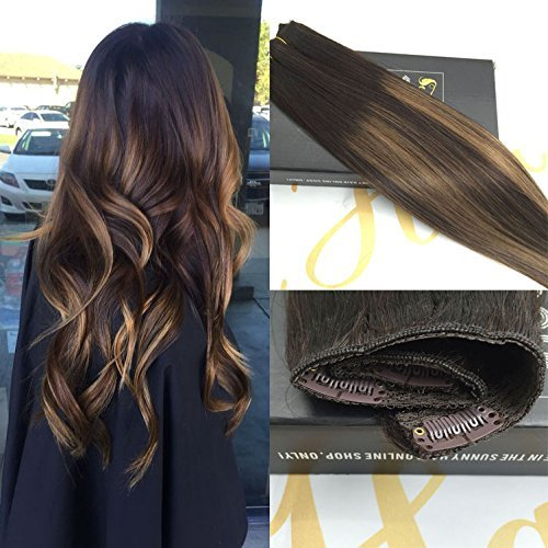 sunny-3-4-testa-completa-capelli-veri-clip-extensions-one-piece-5-clips-100-remy-pelo-umano-marrone-