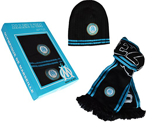 Coffret Echarpe + bonnet OM - Collection officielle Olympique de MARSEILLE