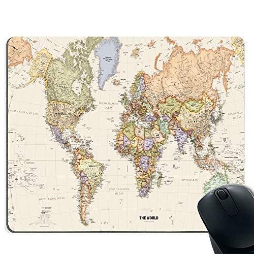 Preisvergleich Produktbild Mauspad,  fortschrittliche strukturierte Oberfläche und rutschfeste Gummibasis - Weltkarte