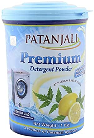 Patanjali Detergent Powder - Front and Top Load, 1kg Jar