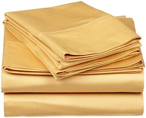 Qualità premium 350-thread-count cotone egiziano 350-tc lenzuolo (lenzuolo di sopra, lenzuolo liscio) con extra Pillow case UK super king Gold Solid 100% cotone italiano finitura