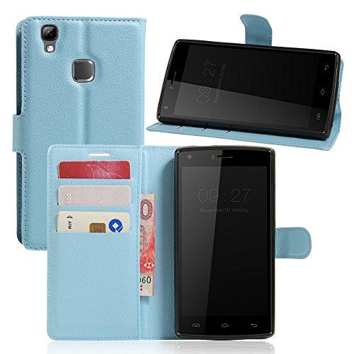 Tasche für DOOGEE X5 Max / X5 Max Pro Hülle, Ycloud PU Ledertasche Flip Cover Wallet Case Handyhülle mit Stand Function Credit Card Slots Bookstyle Purse Design blau