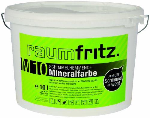 Raumfritz M10 Schimmelhemmende Mineralfarbe 10 Ltr  Schimmelschutzfarbe auf Silikatbasis