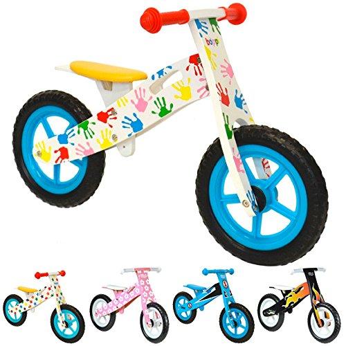 boppi® Bici sin Pedales de Madera para niños DE 2-5 años - Manos Estampadas de Colores