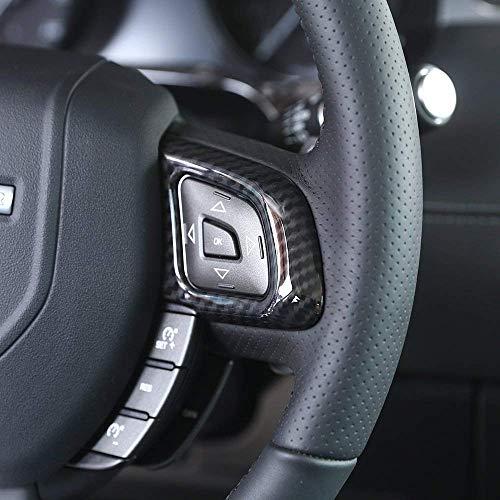 Accessoires de Voiture d'équilibre de Cadre de Bouton de Volant de Chrome en Plastique d'ABS pour la Fibre de Carbone d'Evoque