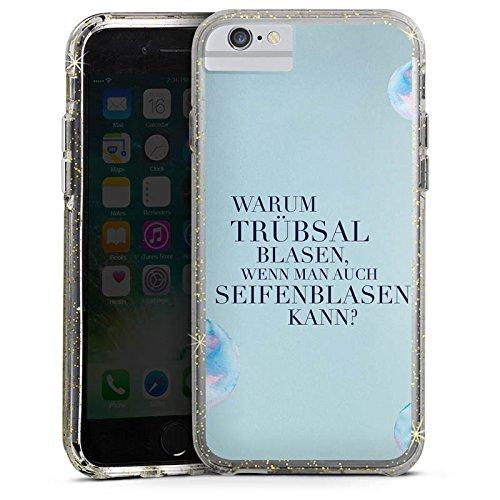 Apple iPhone X Bumper Hülle Bumper Case Glitzer Hülle Statement Spruch Humor Bumper Case Glitzer gold