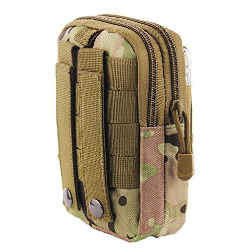 Newnet Taktische Nützlichkeit Saum Nylon Molle Reißverschluss Beutel Tasche, Outdoor Sport, wasserdicht) CP