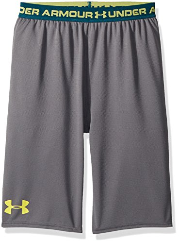 Under Armour Boys' Tech Prototype 2.0 Shorts, Graphite (041)/Tokyo Lemon, Youth Large