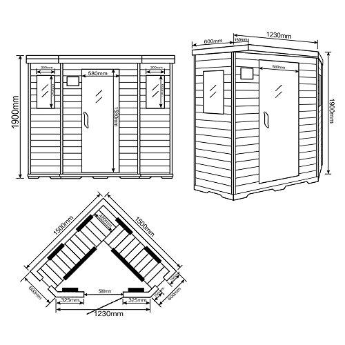Home Deluxe – Infrarotkabine – Redsun XXL