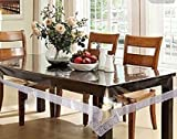 #7: CASANEST Premium PVC Table Cover Silver lace,Size 60x90 inch,Dining Table Cover,6-8 Chair